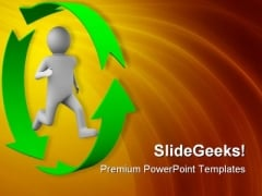 Running Person Success PowerPoint Templates And PowerPoint Backgrounds 0811
