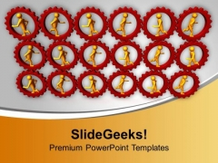Running Persons In Gears Business PowerPoint PowerPoint Templates Ppt Backgrounds For Slides 1112