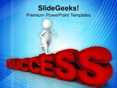 Running Towards Success Path PowerPoint Templates Ppt Backgrounds For Slides 0713