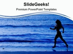 Running Women Health PowerPoint Templates And PowerPoint Backgrounds 0711