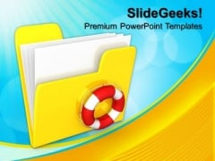 Safe Computer Folder PowerPoint Templates And PowerPoint Themes 0912