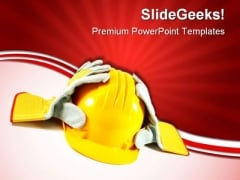 Safety Construction PowerPoint Templates And PowerPoint Backgrounds 0611