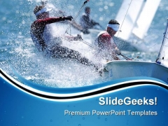 Sailing Man Game PowerPoint Templates And PowerPoint Backgrounds 0711