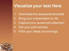 Salad Food PowerPoint Template 0810