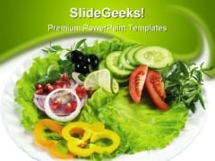 Salad Food PowerPoint Template 0910