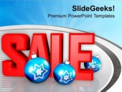 Sale With Christmas Balls PowerPoint Templates Ppt Backgrounds For Slides 1212