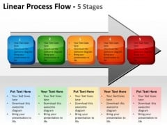 Sales Diagram Linear Process Flow 5 Stages Consulting Diagram