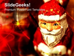 Santa Claus Christmas Theme PowerPoint Templates Ppt Backgrounds For Slides 0513