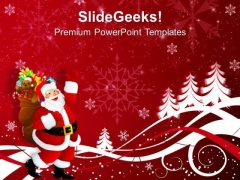 Santa Claus On Christmas Background PowerPoint Templates Ppt Backgrounds For Slides 1112
