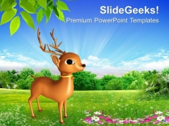Santa Claus Reindeer PowerPoint Templates Ppt Backgrounds For Slides 1212