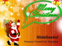 Santa Claus With Christmas Concept PowerPoint Templates Ppt Backgrounds For Slides 1112