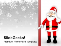 Santa Clause Comes To Your Home PowerPoint Templates Ppt Backgrounds For Slides 0613