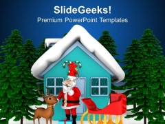 Santa Clause Will Come This Christmas PowerPoint Templates Ppt Backgrounds For Slides 0513