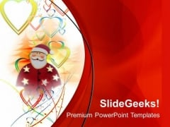 Santa Clause With Red Color Theme PowerPoint Templates Ppt Backgrounds For Slides 0613