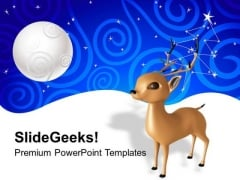 Santa Reindeer Christmas PowerPoint Templates Ppt Backgrounds For Slides 1212