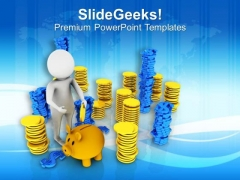Save A Part Of Income PowerPoint Templates Ppt Backgrounds For Slides 0613