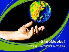 Save Earth Globe Environement PowerPoint Templates Ppt Backgrounds For Slides 0113