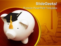 Save For Graduation Education PowerPoint Backgrounds And Templates 1210