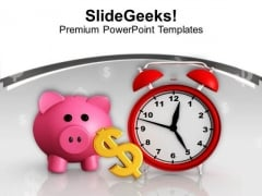 Save Money For Long Time PowerPoint Templates Ppt Backgrounds For Slides 0613