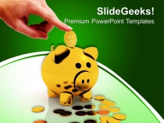 Save Money In Piggy Bank Business PowerPoint Templates And PowerPoint Themes 0912