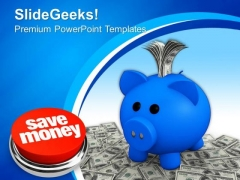 Save Money In Piggy Bank Profit Business PowerPoint Templates And PowerPoint Themes 0812