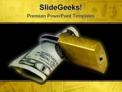Save Money Security PowerPoint Template 0810