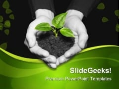 Save Plant Nature PowerPoint Themes And PowerPoint Slides 0511