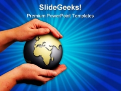Save The World Globe PowerPoint Themes And PowerPoint Slides 0811