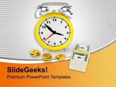 Save Time And Money Financial Business PowerPoint Templates Ppt Backgrounds For Slides 0313