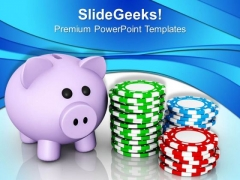Save Your Money Future PowerPoint Templates Ppt Backgrounds For Slides 0413