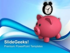 Saving Increases As Time Increases Finance PowerPoint Templates Ppt Backgrounds For Slides 0413