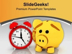 Savings Increases With Time PowerPoint Templates Ppt Backgrounds For Slides 0513