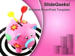 Savings On Target Finance PowerPoint Templates And PowerPoint Backgrounds 0311