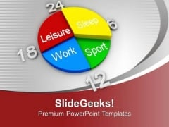 Schedule For Leisure Work Entertainment PowerPoint Templates Ppt Backgrounds For Slides 0513