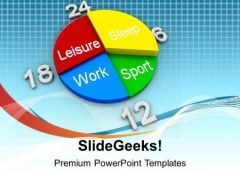 Schedule Planner For Leisure Work And Sleep PowerPoint Templates Ppt Backgrounds For Slides 0513