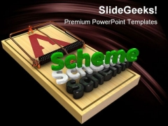 Scheme Trap Business PowerPoint Themes And PowerPoint Slides 0411
