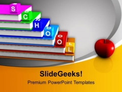 School Blocks And Books Education PowerPoint Templates Ppt Background For Slides 1112