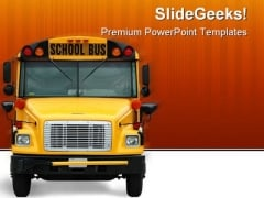 School Bus Transportation PowerPoint Template 0810