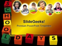 School Days Children PowerPoint Backgrounds And Templates 1210