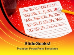 School Work Education PowerPoint Backgrounds And Templates 1210