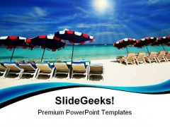 Sea Chair Beach PowerPoint Templates And PowerPoint Backgrounds 0411