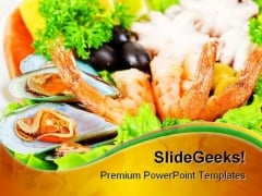 Sea Food PowerPoint Backgrounds And Templates 0111