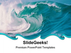 Sea With Waves Nature PowerPoint Templates And PowerPoint Backgrounds 0711
