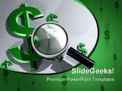 Search Dollar Future PowerPoint Template 0510