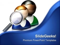 Search Icon People PowerPoint Template 0910