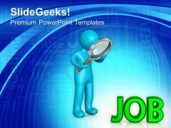 Search The Right Job For Career PowerPoint Templates Ppt Backgrounds For Slides 0613