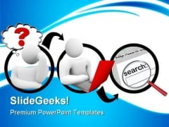 Searching For Answer Internet PowerPoint Themes And PowerPoint Slides 0811