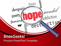 Searching For Hope Metaphor PowerPoint Templates And PowerPoint Backgrounds 0811