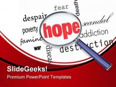 Searching For Hope Metaphor PowerPoint Themes And PowerPoint Slides 0811
