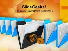 Secure Folders Computer PowerPoint Templates And PowerPoint Themes 1012